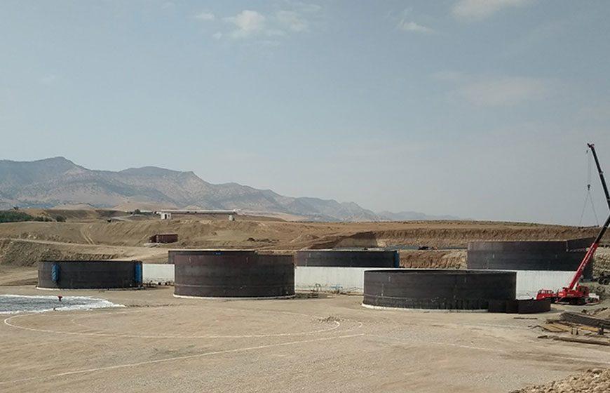 طراحی پايه و تفصيلی و نظارت بر اجرای پالايشگاه مازوت شركت Unka Sun واقع در سليمانيه عراق